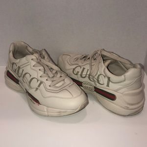 0007d686261 Gucci Shoes - Gucci Rython Logo Sneakers 38 1 2